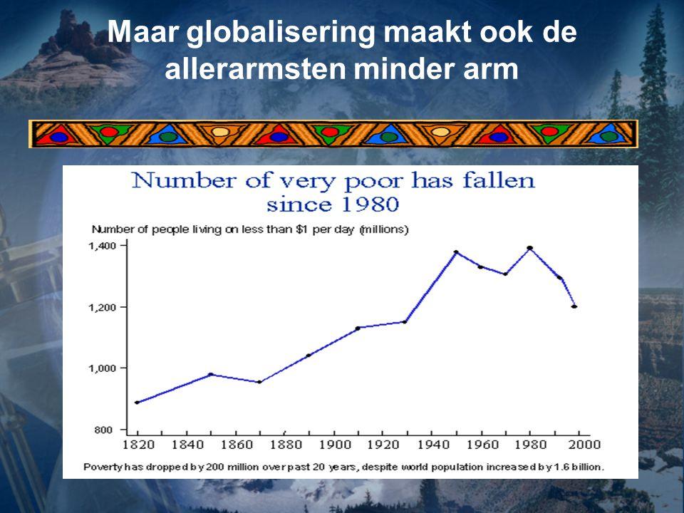 Maar globalisering maakt ook de allerarmsten minder arm