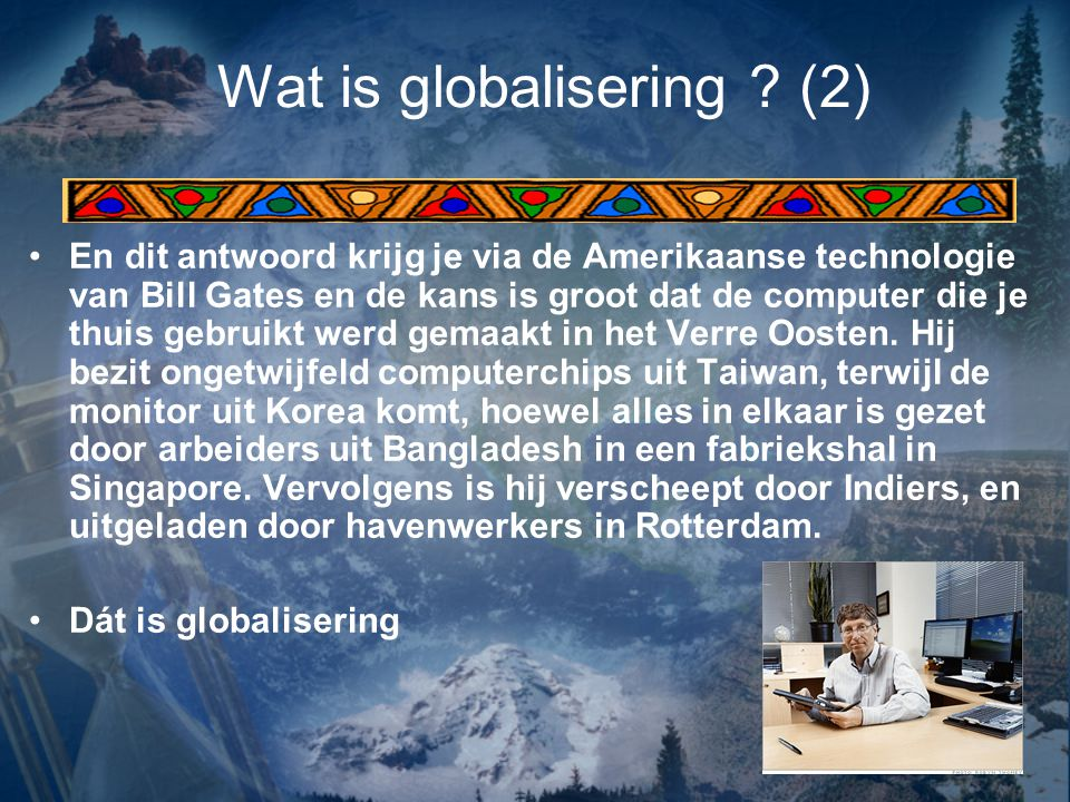 Wat is globalisering (2)