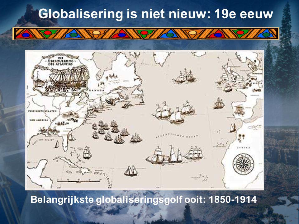 Globalisering is niet nieuw: 19e eeuw