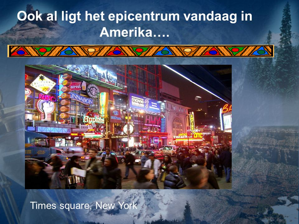 Ook al ligt het epicentrum vandaag in Amerika….