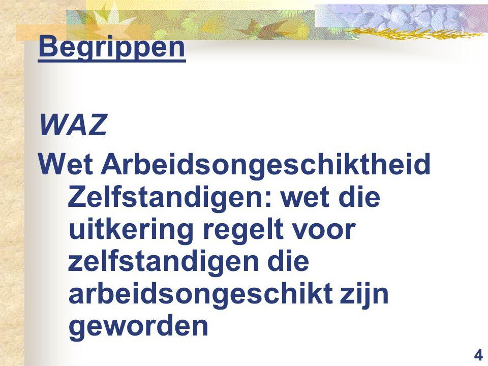 Begrippen WAZ.
