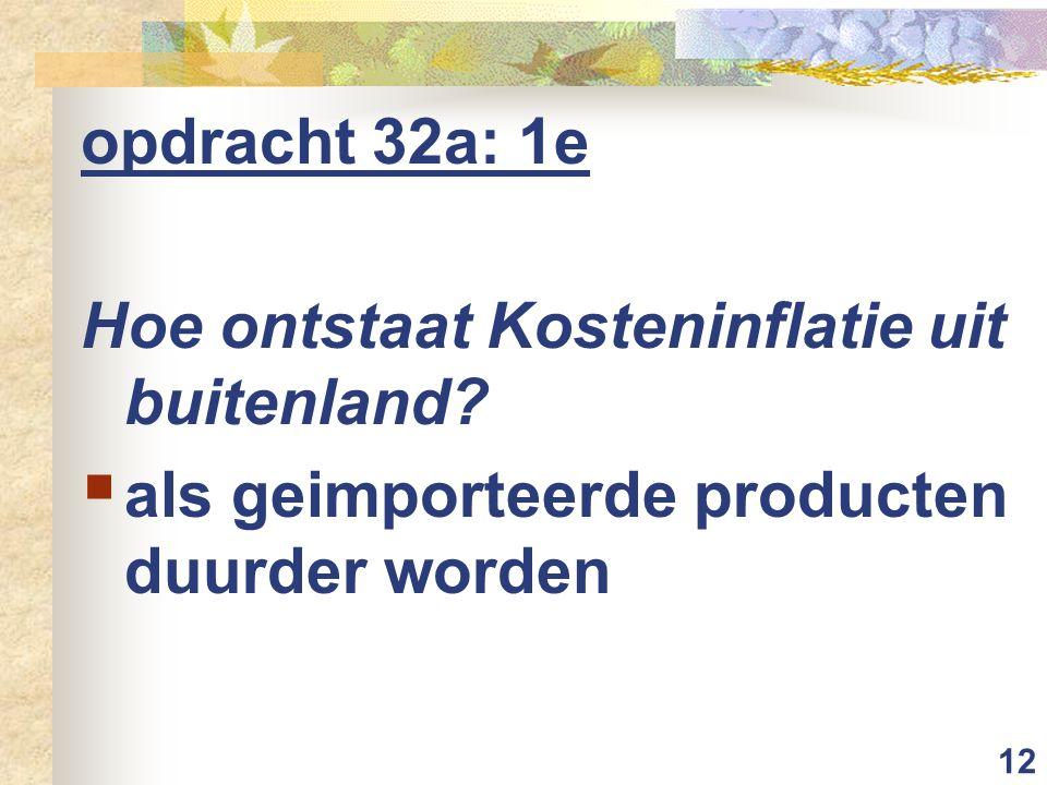 opdracht 32a: 1e Hoe ontstaat Kosteninflatie uit buitenland.