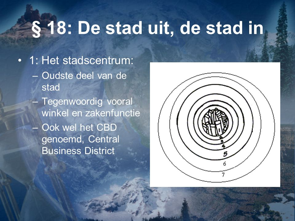 § 18: De stad uit, de stad in 1: Het stadscentrum: