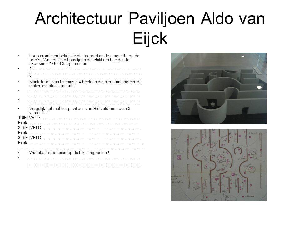 Architectuur Paviljoen Aldo van Eijck