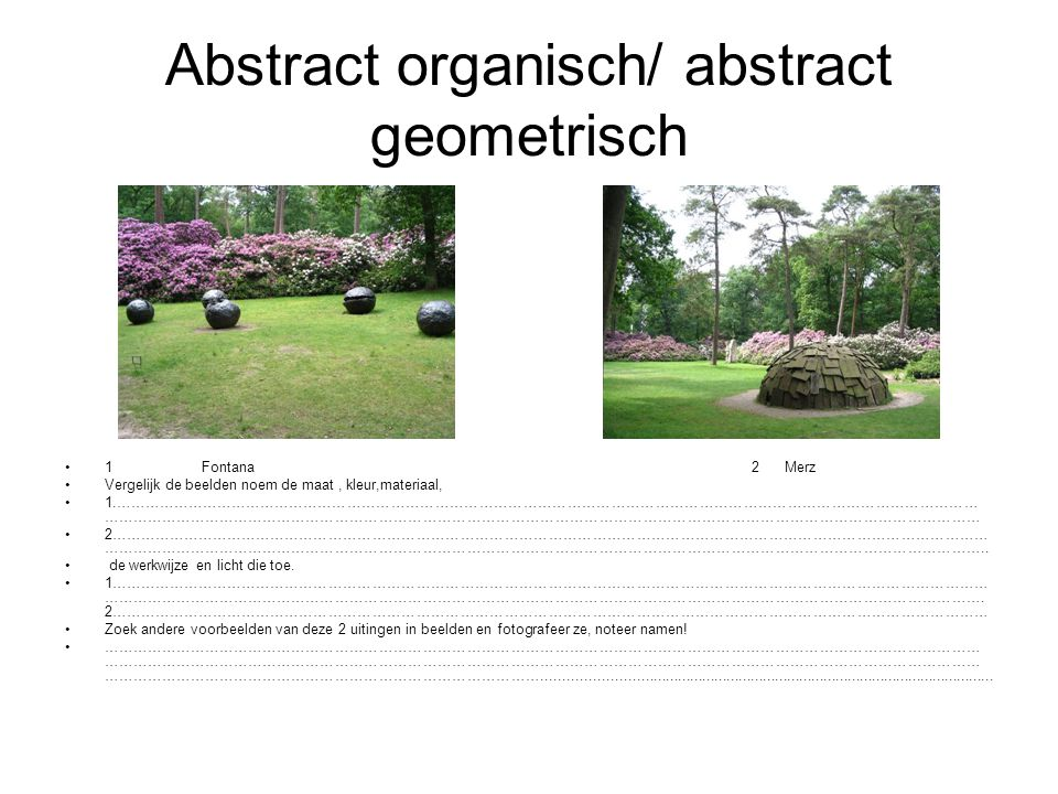 Abstract organisch/ abstract geometrisch