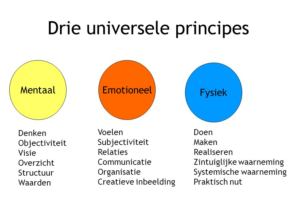 Drie universele principes