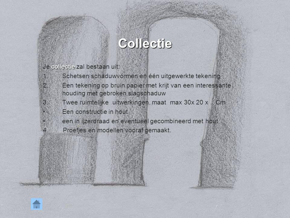 Collectie Je collectie zal bestaan uit: