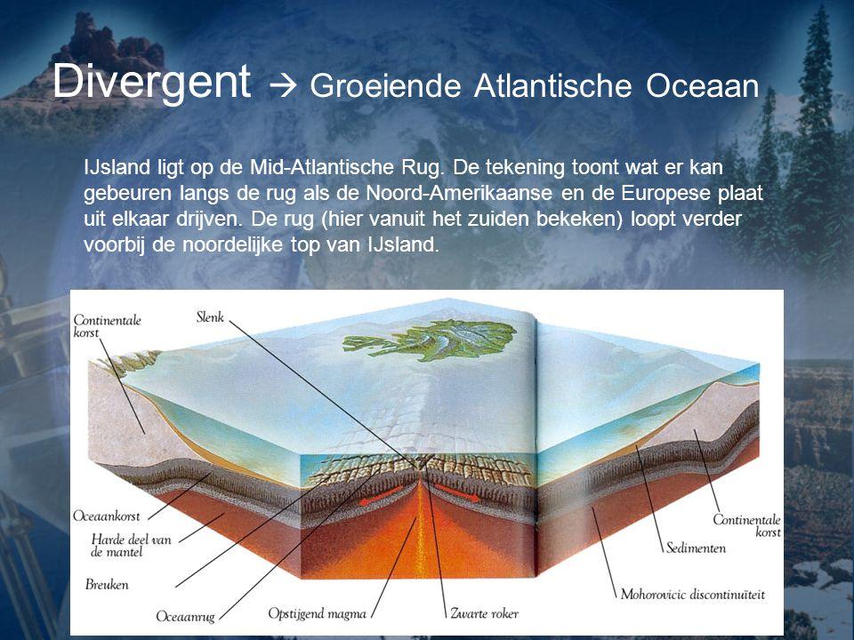 Divergent  Groeiende Atlantische Oceaan