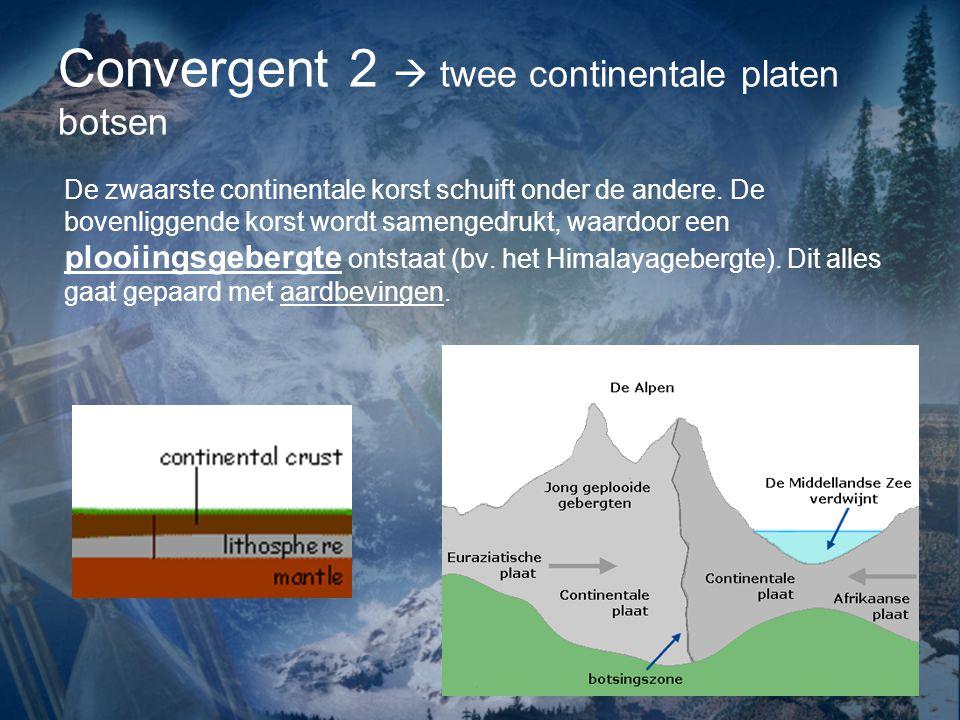 Convergent 2  twee continentale platen botsen