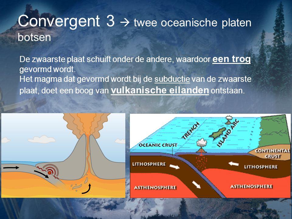 Convergent 3  twee oceanische platen botsen