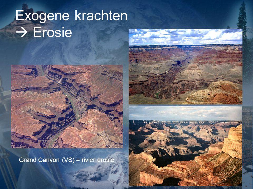Exogene krachten  Erosie