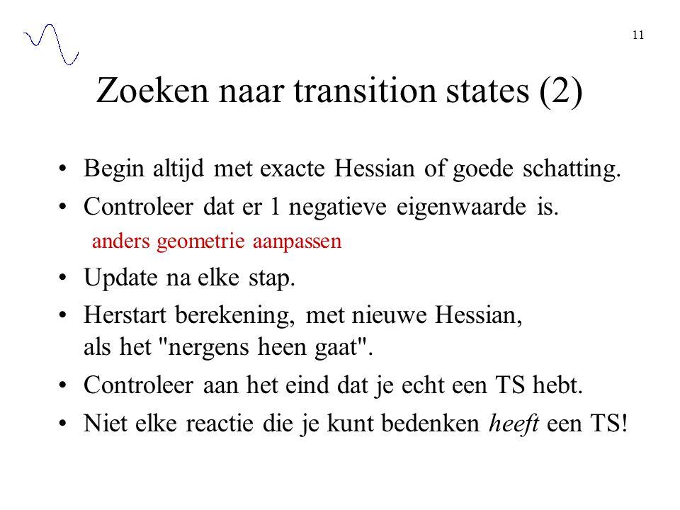 Zoeken naar transition states (2)