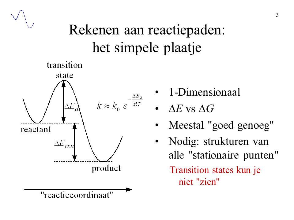 Rekenen aan reactiepaden: het simpele plaatje