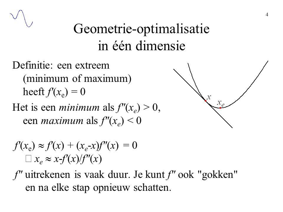 Geometrie-optimalisatie in één dimensie