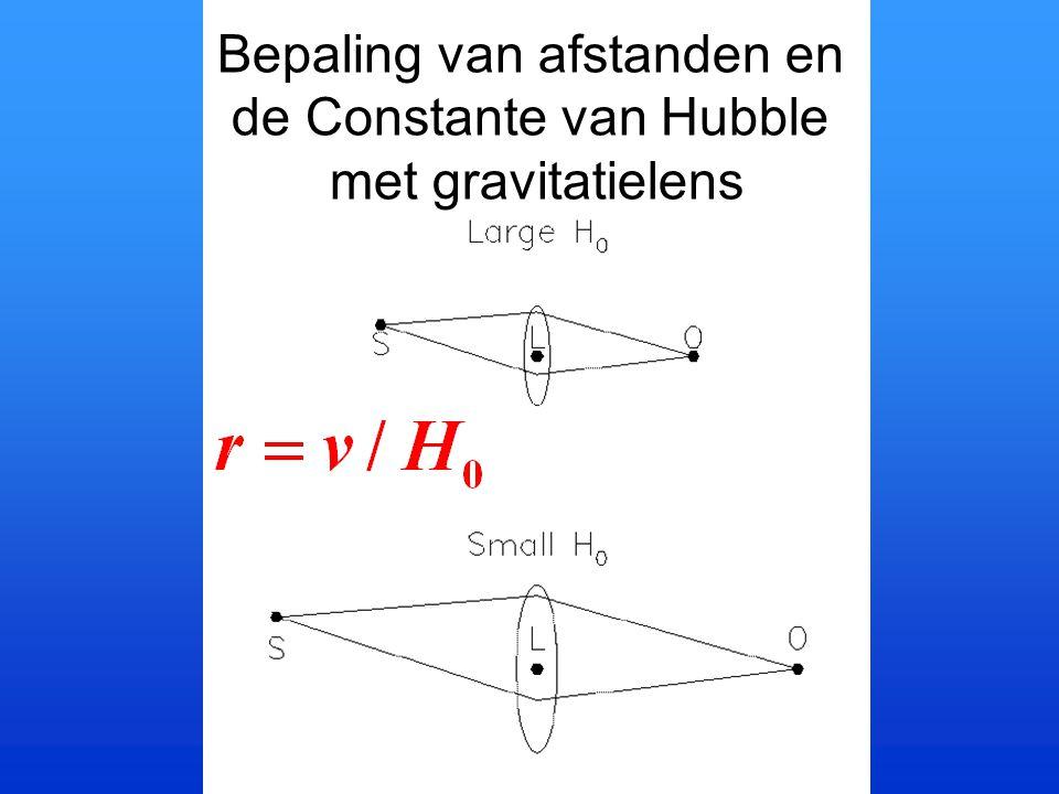 Bepaling van afstanden en de Constante van Hubble met gravitatielens