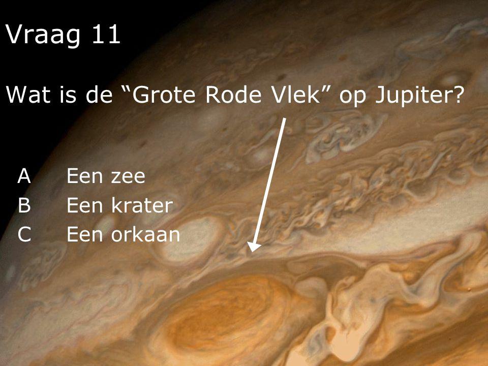 Vraag 11 Wat is de Grote Rode Vlek op Jupiter