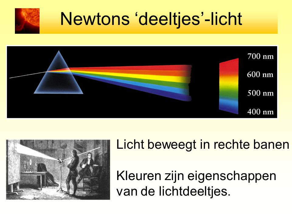 Newtons 'deeltjes'-licht