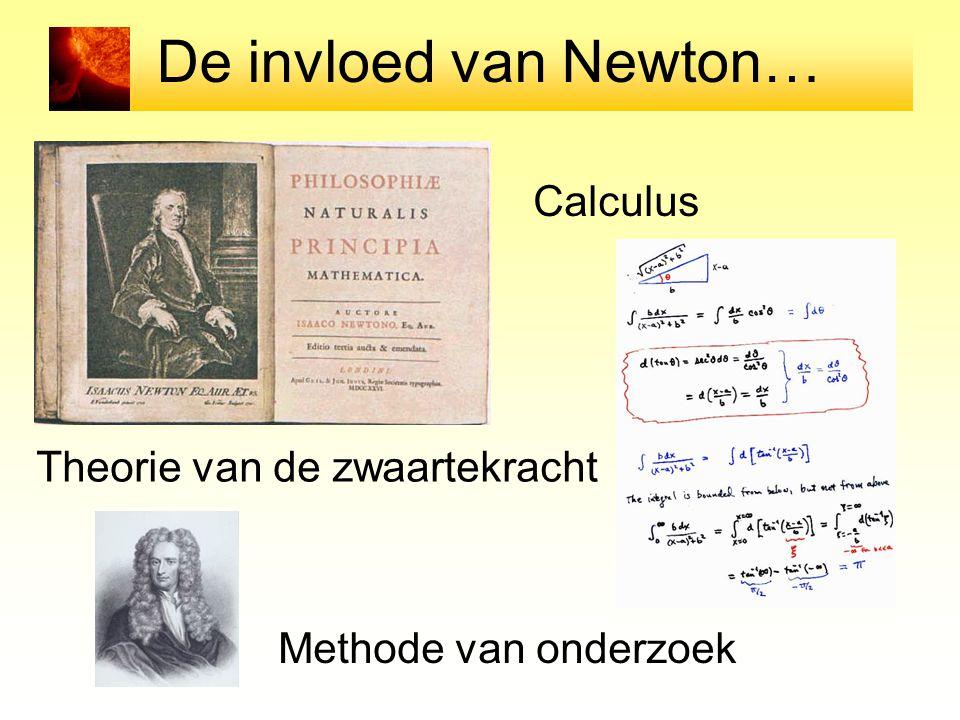 De invloed van Newton… Calculus Theorie van de zwaartekracht