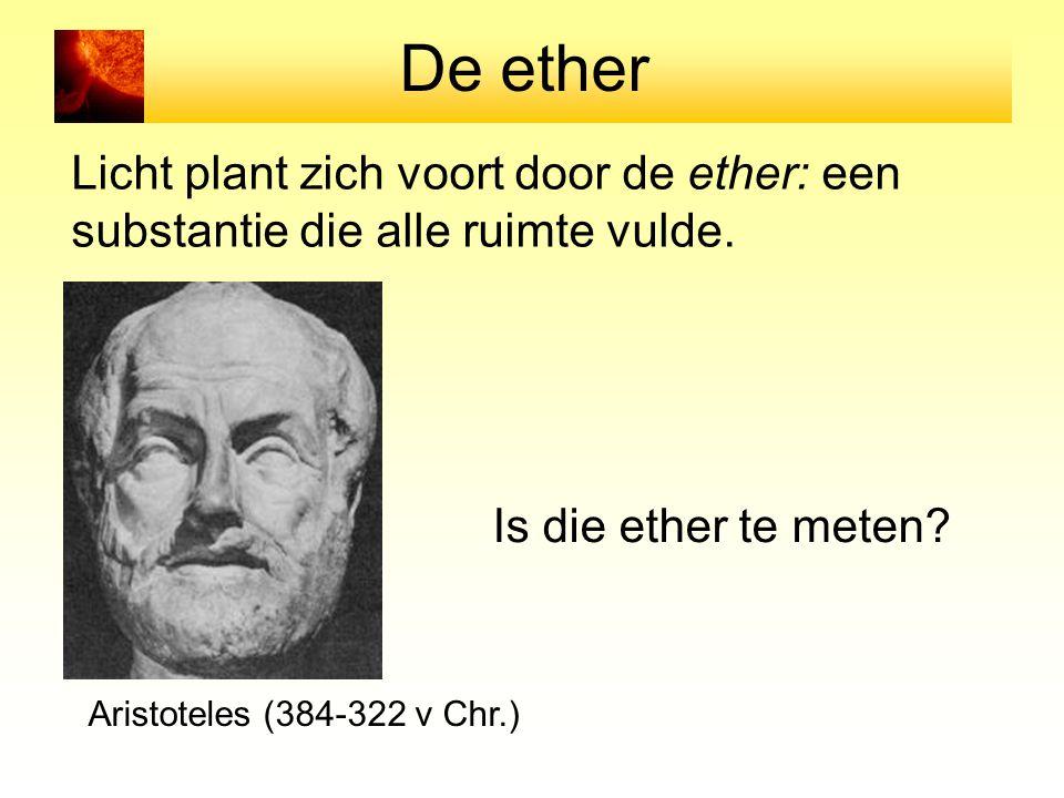 De ether Licht plant zich voort door de ether: een