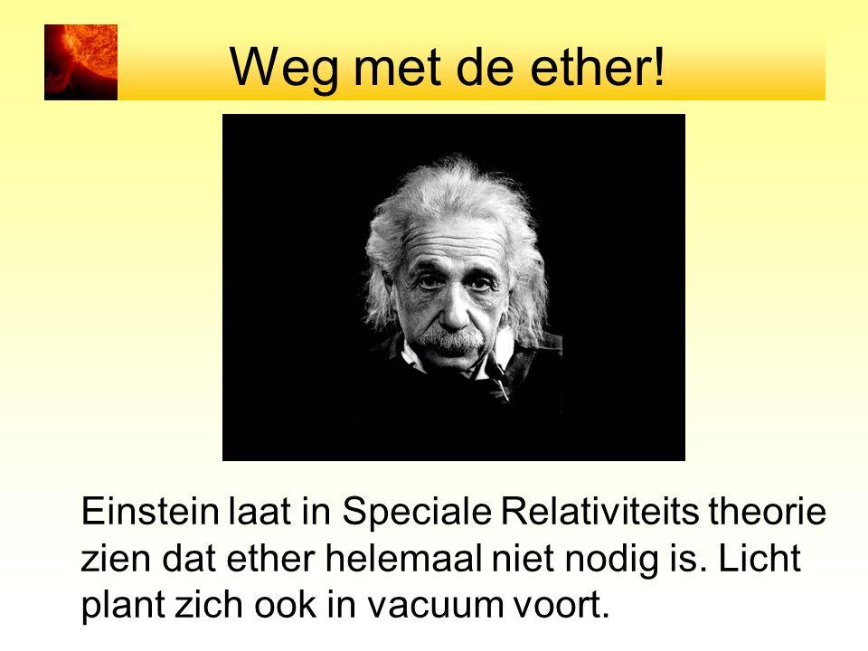 Weg met de ether! Einstein laat in Speciale Relativiteits theorie