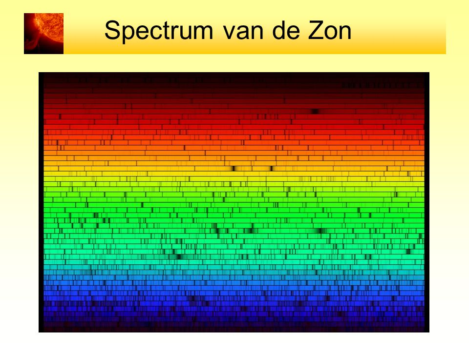 Spectrum van de Zon