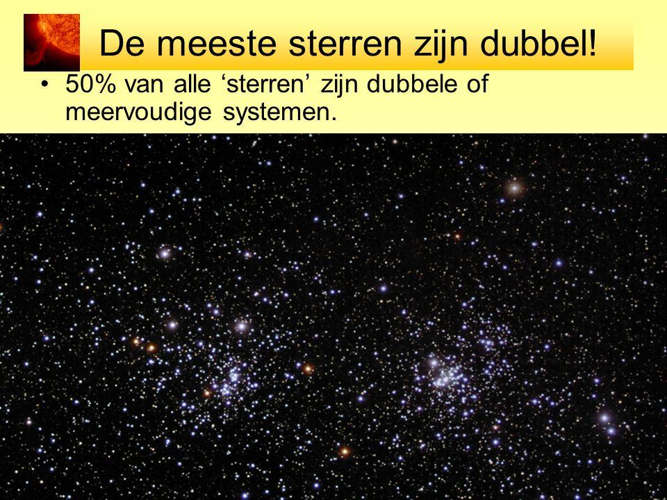 De meeste sterren zijn dubbel!