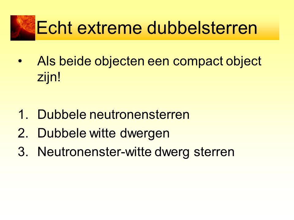 Echt extreme dubbelsterren