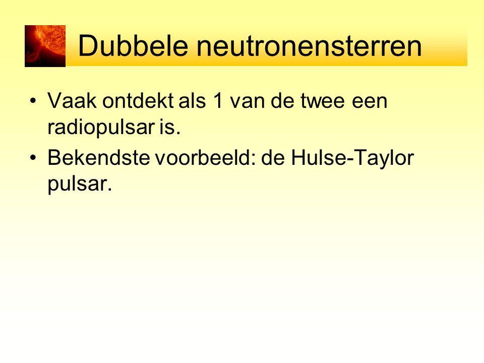 Dubbele neutronensterren