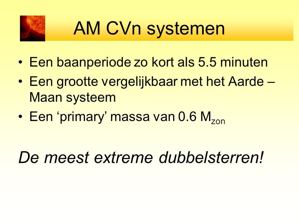 AM CVn systemen De meest extreme dubbelsterren!