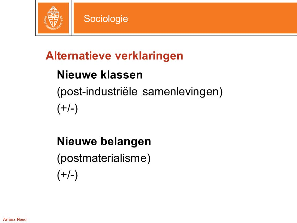 Alternatieve verklaringen