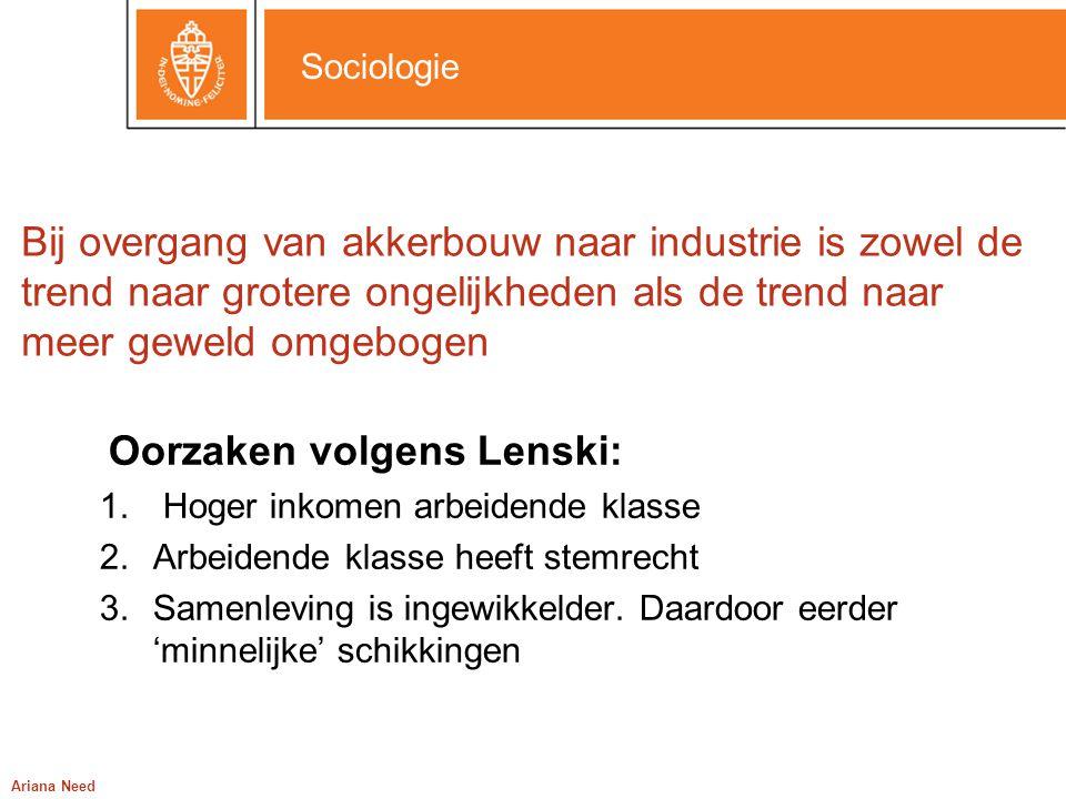 Oorzaken volgens Lenski: