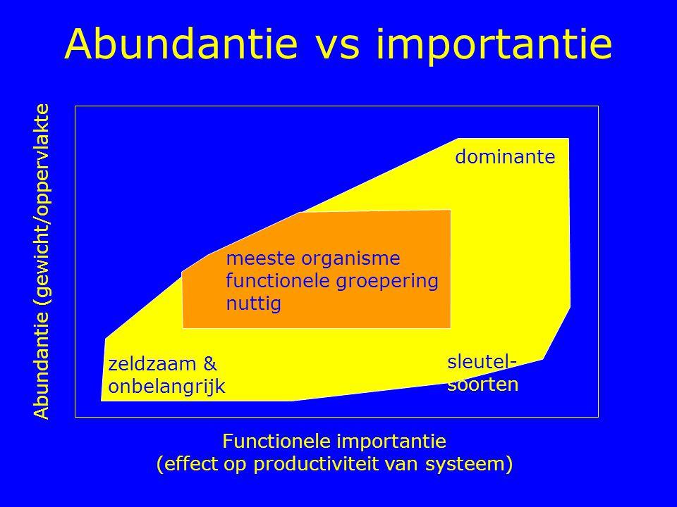 Abundantie vs importantie