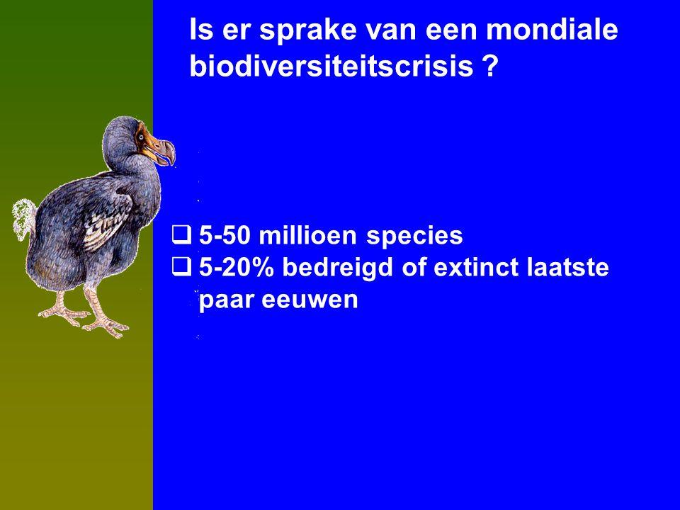 Is er sprake van een mondiale biodiversiteitscrisis