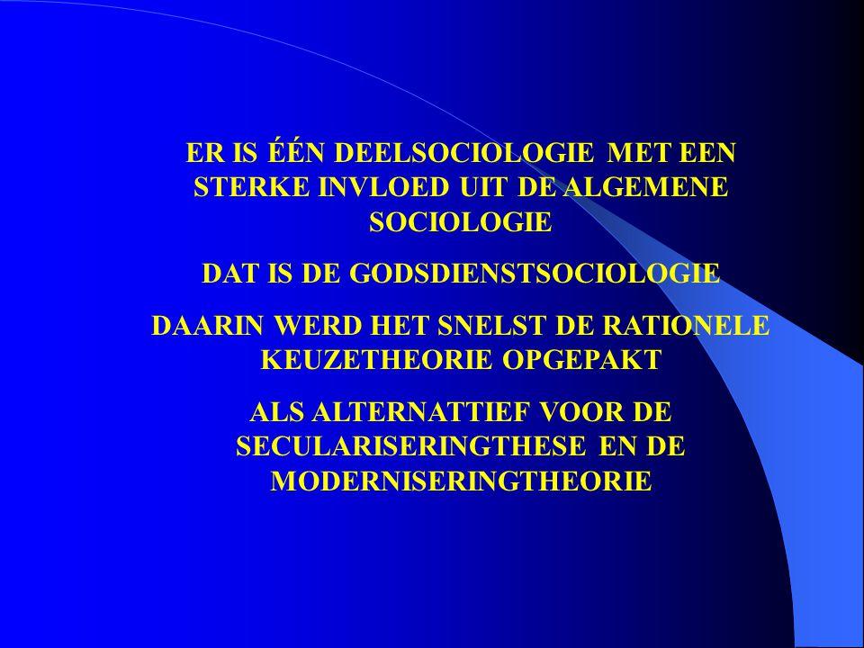 DAT IS DE GODSDIENSTSOCIOLOGIE