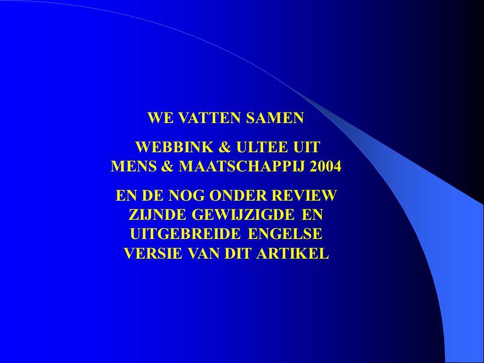 WEBBINK & ULTEE UIT MENS & MAATSCHAPPIJ 2004