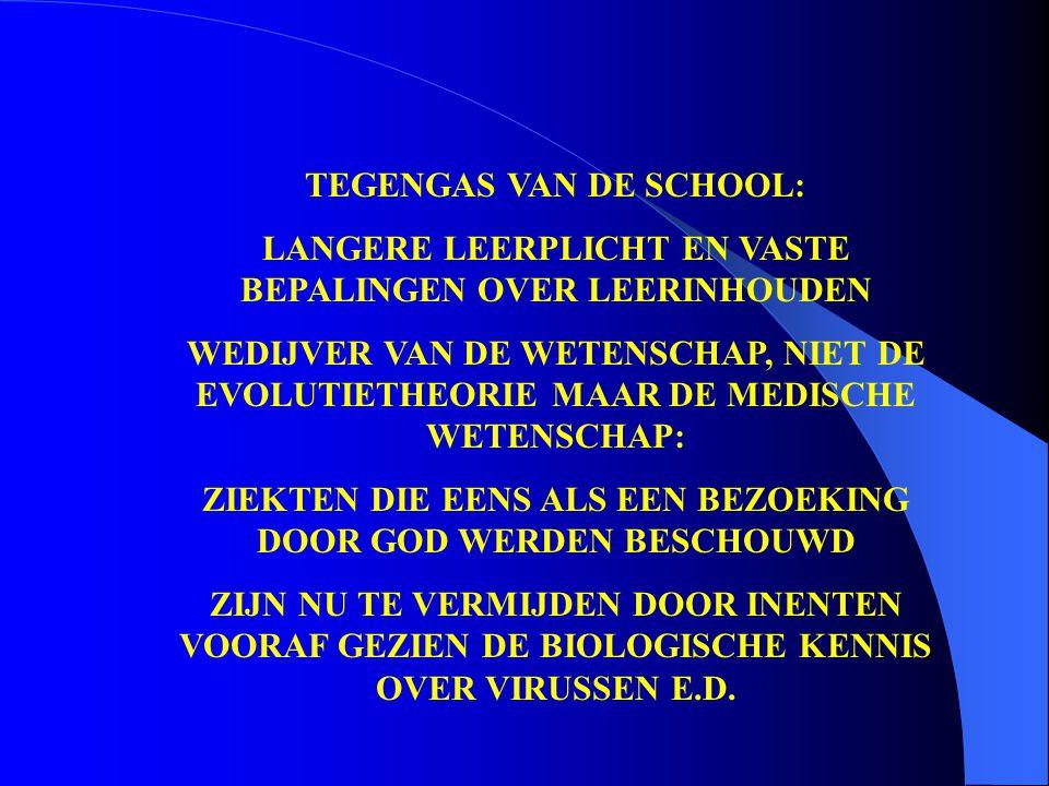TEGENGAS VAN DE SCHOOL: