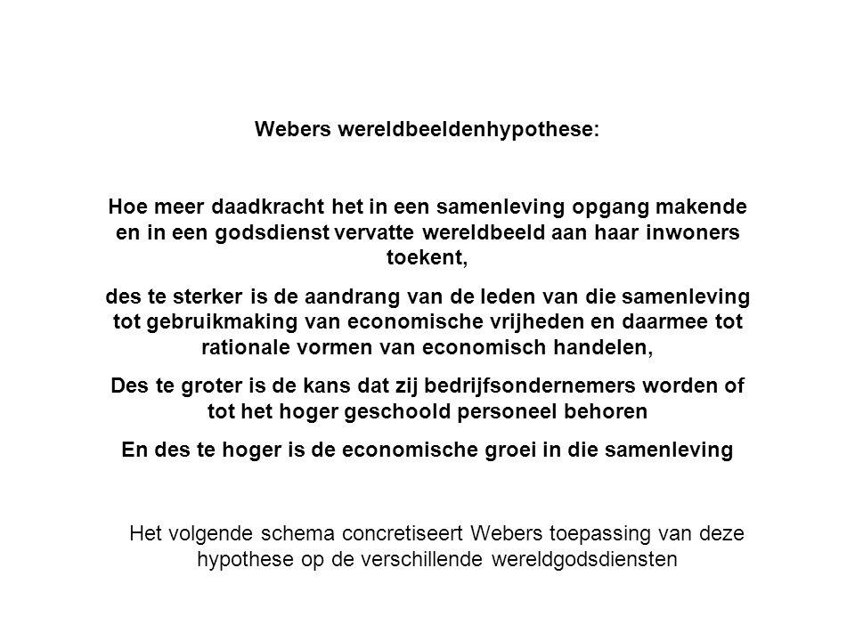 Webers wereldbeeldenhypothese: