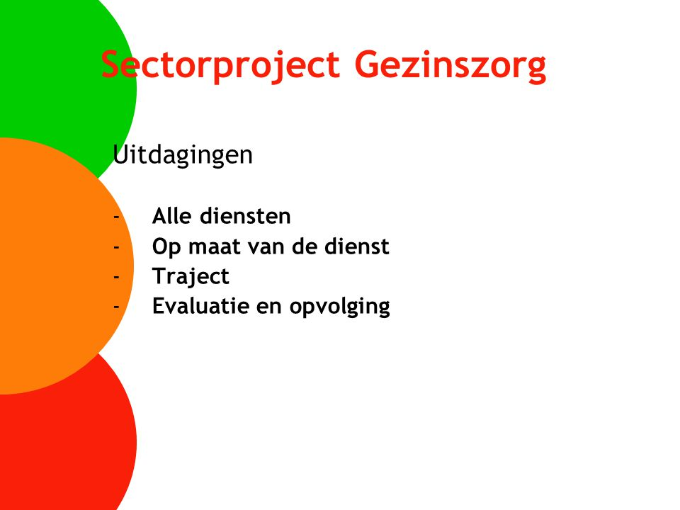 Sectorproject Gezinszorg