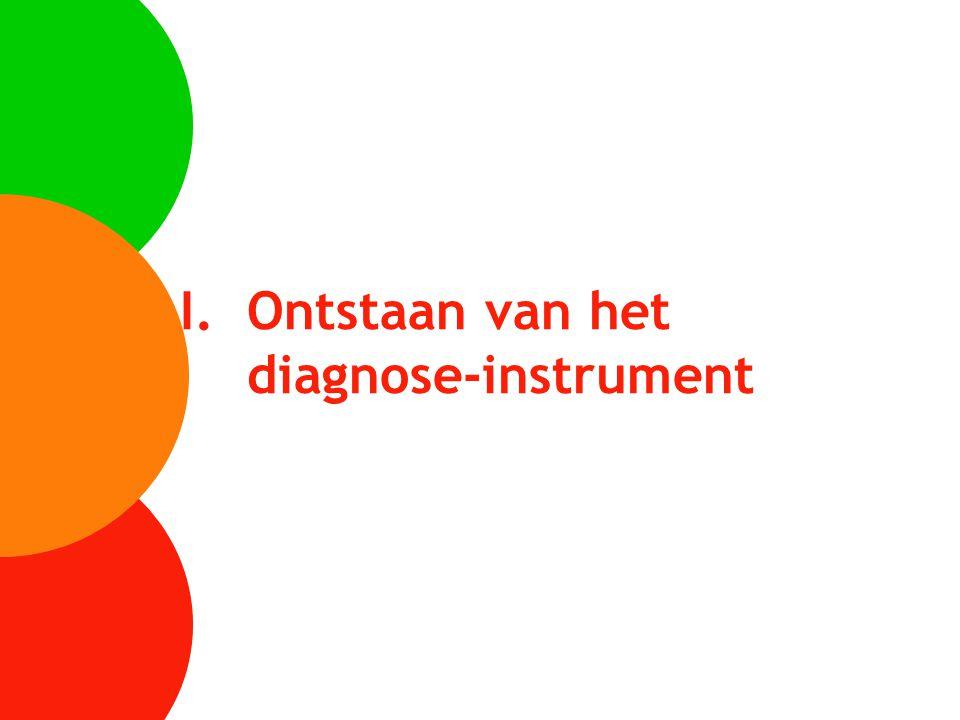 Ontstaan van het diagnose-instrument