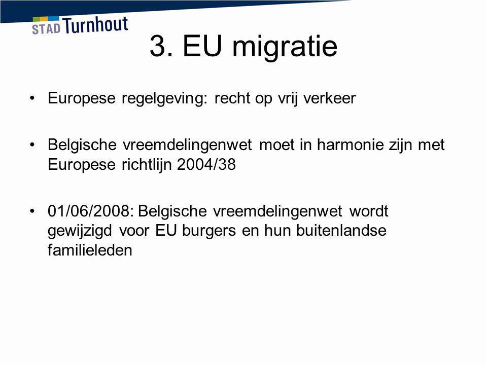 3. EU migratie Europese regelgeving: recht op vrij verkeer