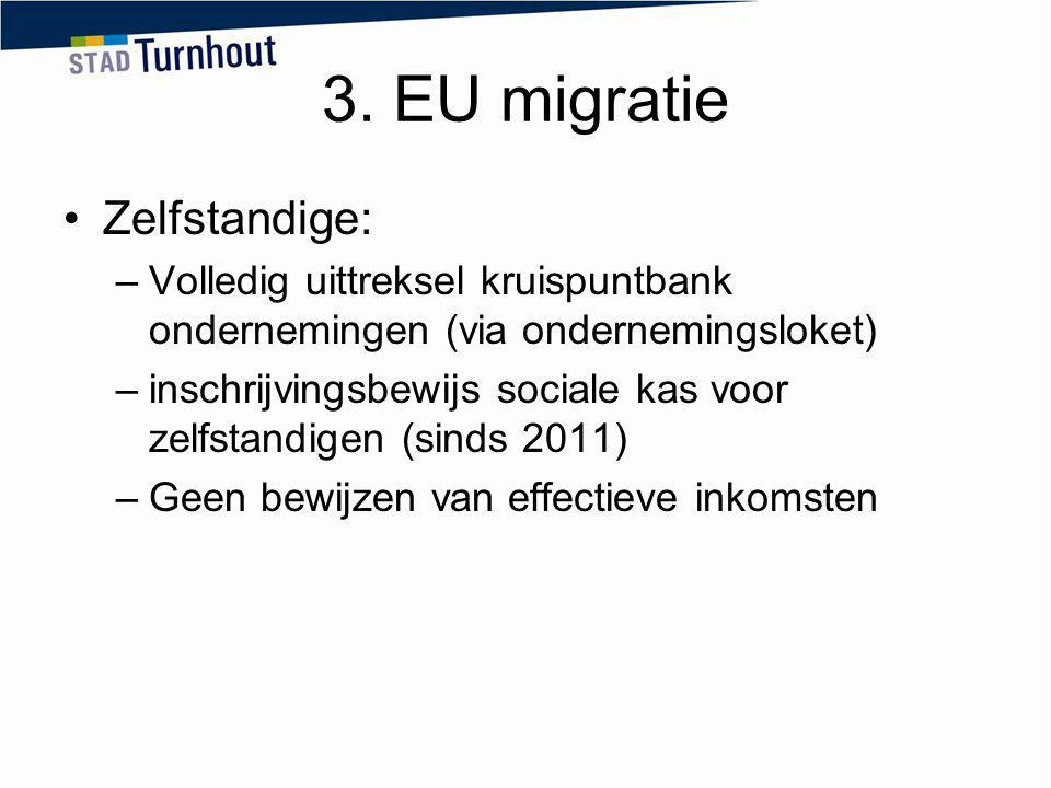 3. EU migratie Zelfstandige: