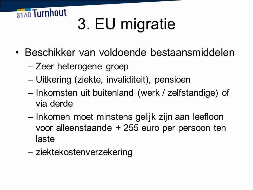 3. EU migratie Beschikker van voldoende bestaansmiddelen