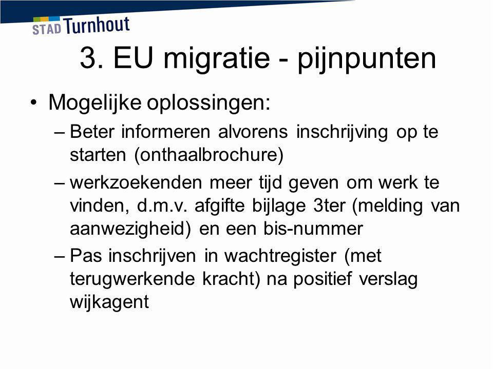 3. EU migratie - pijnpunten
