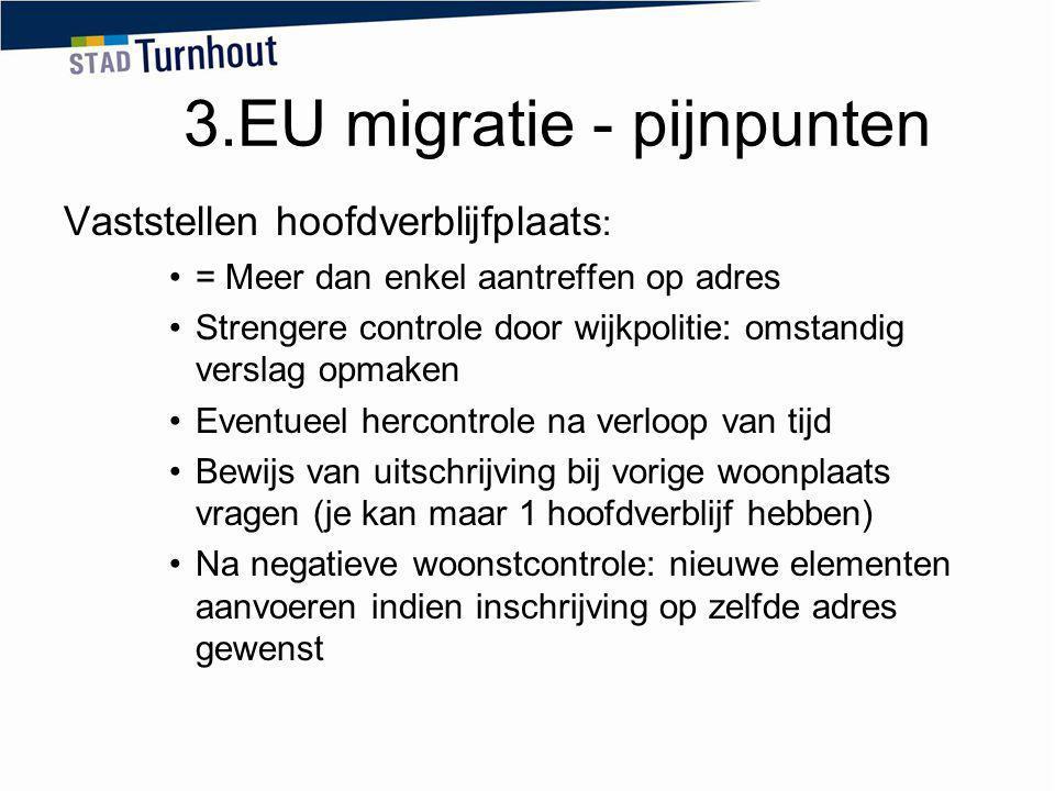 3.EU migratie - pijnpunten
