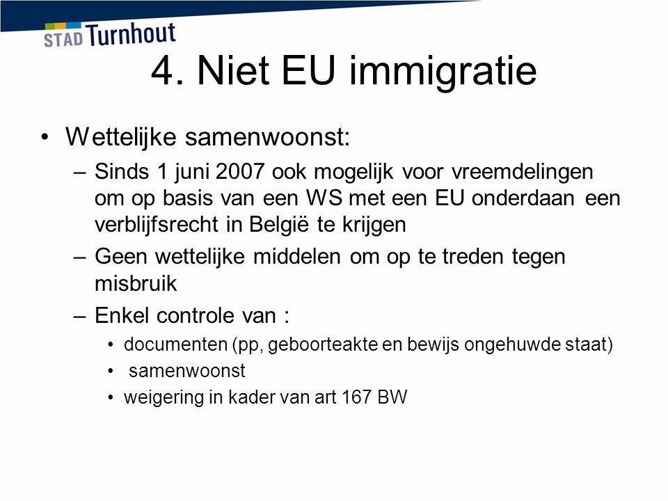 4. Niet EU immigratie Wettelijke samenwoonst: