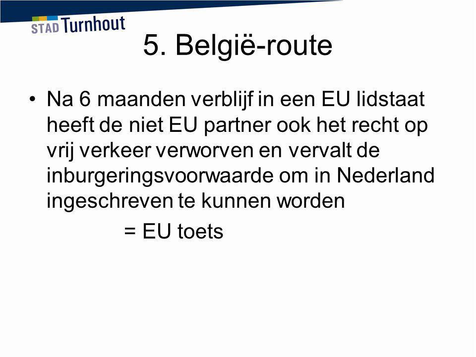 5. België-route