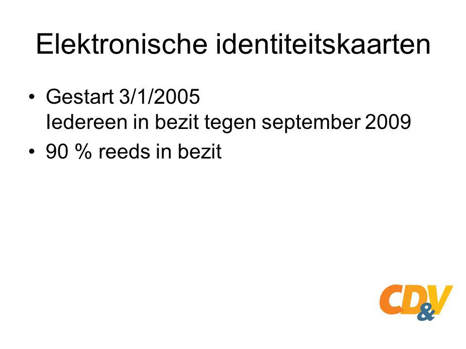 Elektronische identiteitskaarten
