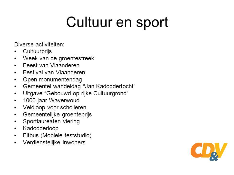 Cultuur en sport Diverse activiteiten: Cultuurprijs