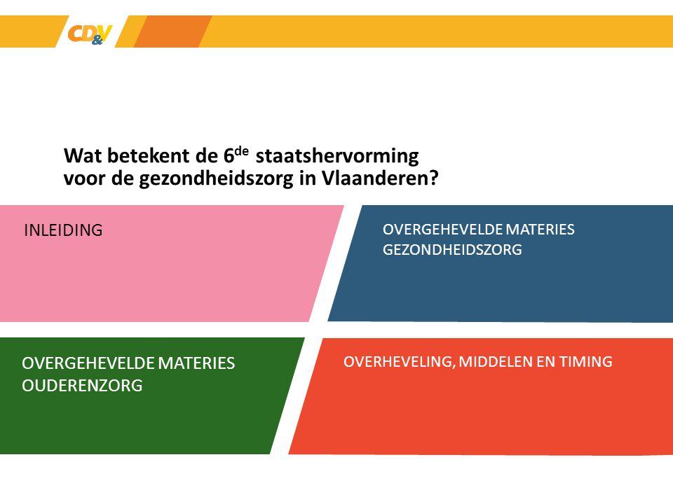 Wat betekent de 6de staatshervorming voor de gezondheidszorg in Vlaanderen