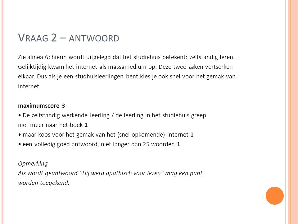 Vraag 2 – antwoord